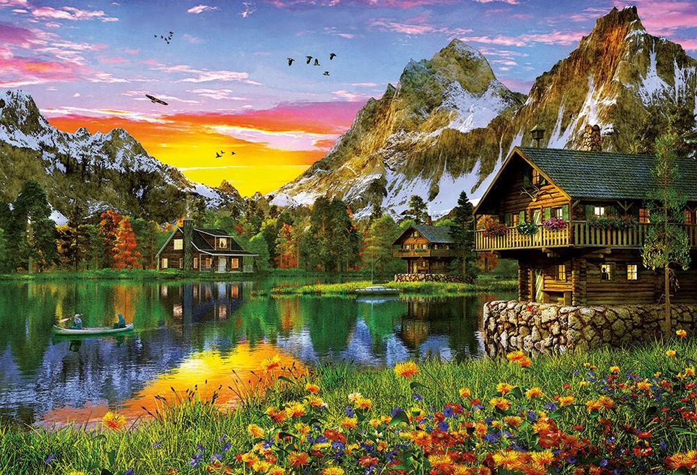 Educa Alpine Lake 5000 Stukjes 4000 Stukjes En Meer Puzzelplaza